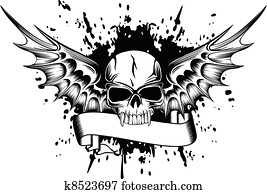skull with wings 2