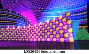 The disco stage set checker c