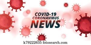covid-19 coronavirus latest news and updates banner design