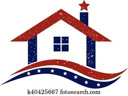 Logo patriotic house