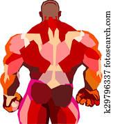 Muscular bodybuilder in a gym