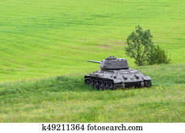 Russian tank T-34 from World War II, Slovakia Stock Image