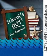 School is Out for Summer - Sea Waves