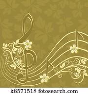 musikalisch, hintergrund, mit, a, dreifach, c