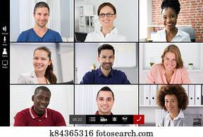 Online Video Conference Meeting Group Call