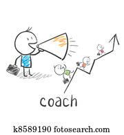 geschaefts, coach,, trainer