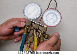 Handyman repairman HVAC tools