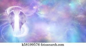 Heavenly Angelic Banner Background