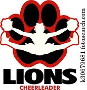 lions cheerleader