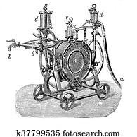 Old technique for beer production: filtering machine