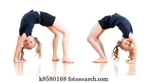 Celebrity Naked Gymnast Doing Split Pics