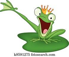 glücklich, frosch fürst