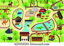 Map of a zoo park
