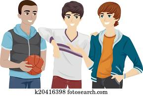 Male Teen Group