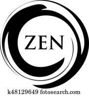Yoga Zen Meditation Symbol Design