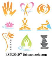 Icons spa massage