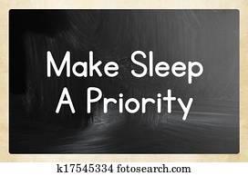 make sleep a priority