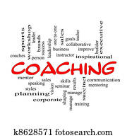 Red Caps Coaching Word Cloud Scribbled