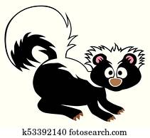 Cartoon Baby Skunk