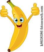 Cheerful Cartoon Banana character