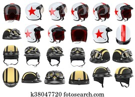 Set motorcycle helmets