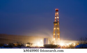 Oil rig in the field.
