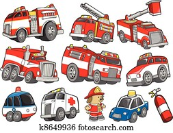 Rescue Vehicle Transportation set