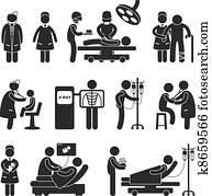 doktor, krankenschwester, chirurgie, klinikum