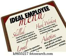 Ideal Employee Menu for Choosing Job Candidate