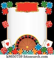 kasino, nacht, party, veranstaltung, einladung