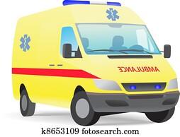 krankenwagen, kleintransport