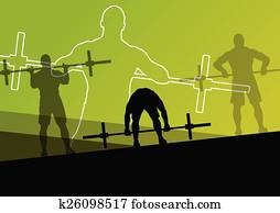 Men crossfit weight lifting sport