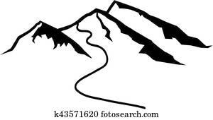 Mountains Ski Track