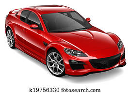 Red coupe car