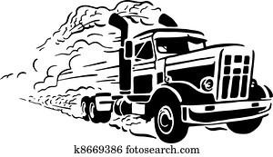 altmodisch, lastwagen
