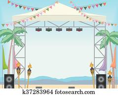 Beach Stage Day Frame
