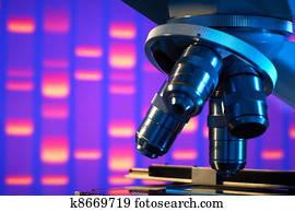 nahaufnahme, von, labor mikroskop