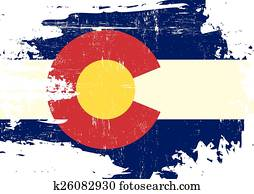 Scratched Colorado Flag