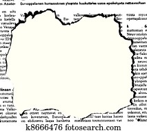 the vector newspaper hole