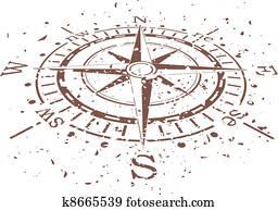 vector grunge compass
