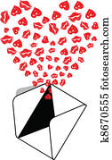 Envelope Kiss Love