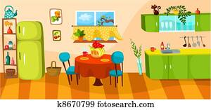 Kitchen Clip Art Royalty Free 186 849 Kitchen Clipart Vector Eps