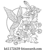 Clip Art Tukan Ausmalbilder Für Erwachsene Vektor K36113098