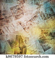 old background with newspaper