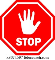 Stop vector sign