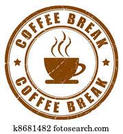 Coffee break sign