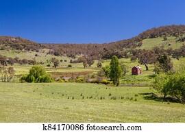 Country Landscape near Maldon Victoria Australia