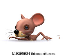 3d Swimming mouse