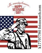 American Veterans Day Greeting Card