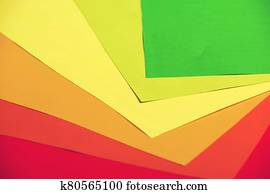 Colorful textured office paper abstract background